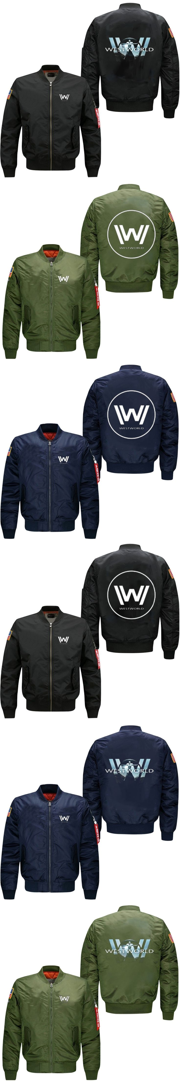2017 Spring Men Bomber flight Jacket coat  TV Series Westworld  men's lensuire baseball uniform USA size free shipping
