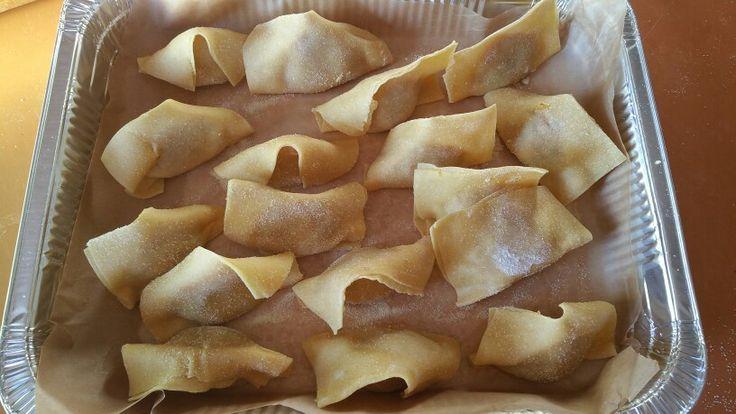 Tortelli di zucca !tipici di Mantova Zucca ,mostarda ,uvetta e amaretti .