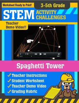 stem activity challenge spaghetti tower 3rd 5th grade activities shape and student. Black Bedroom Furniture Sets. Home Design Ideas