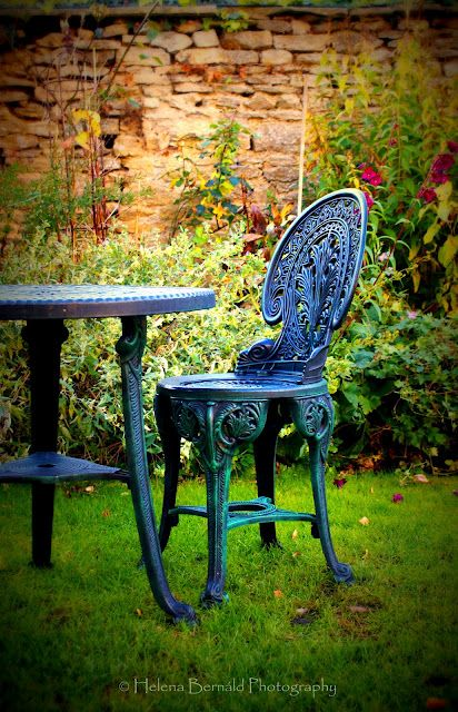 the garden at king johns hunting lodge tea rooms in lacock wiltshire england photo by helena bernald jane watling