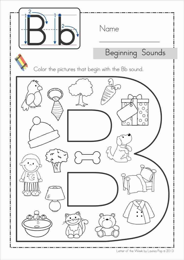 Letter B Coloring Pages For Preschoolers : Best ideas about letter b activities on