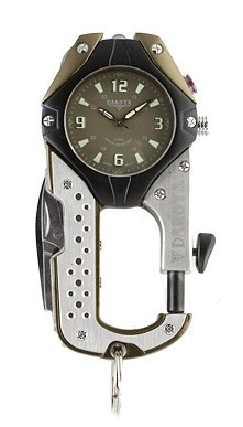 Perfect for the gadget junkie, the Dakota Knife Clip is an all-in-one Multi-Tool Clip Watch made with utility in mind. $70.00
