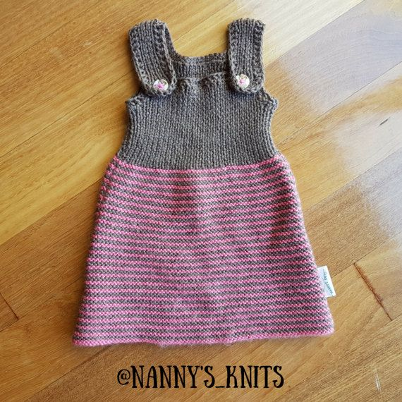 Knitted Baby Pinafore Crocheted Dress