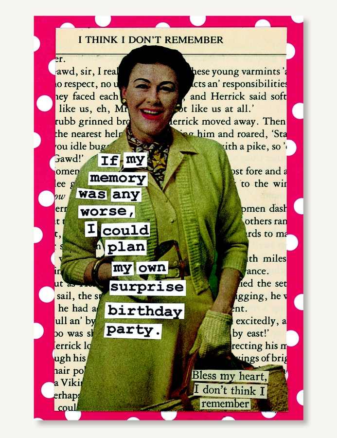Birthday Card - SRP $5.00  All cards are blank inside so each can be personalized. The cards are printed on high quality card stock that is FSC Certified with 30% Post-Consumer waste. All cards come with a complementary envelope and are packaged in a re-sealable acetate bag.