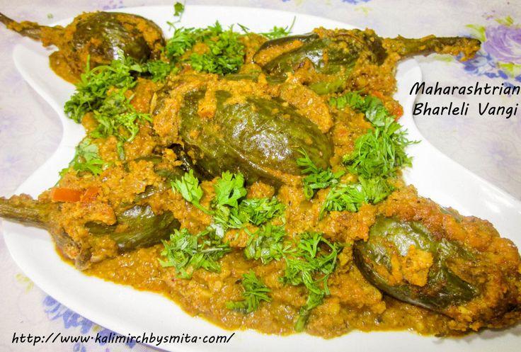 Bharleli Vangi(Stuffed Egg Plants) is an integral part of Maharashtrian cuisine