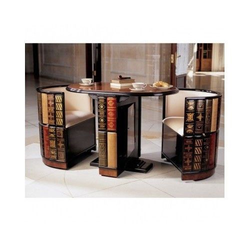 Game Table Chairs 3 Piece Chess Magic Card Library Wood