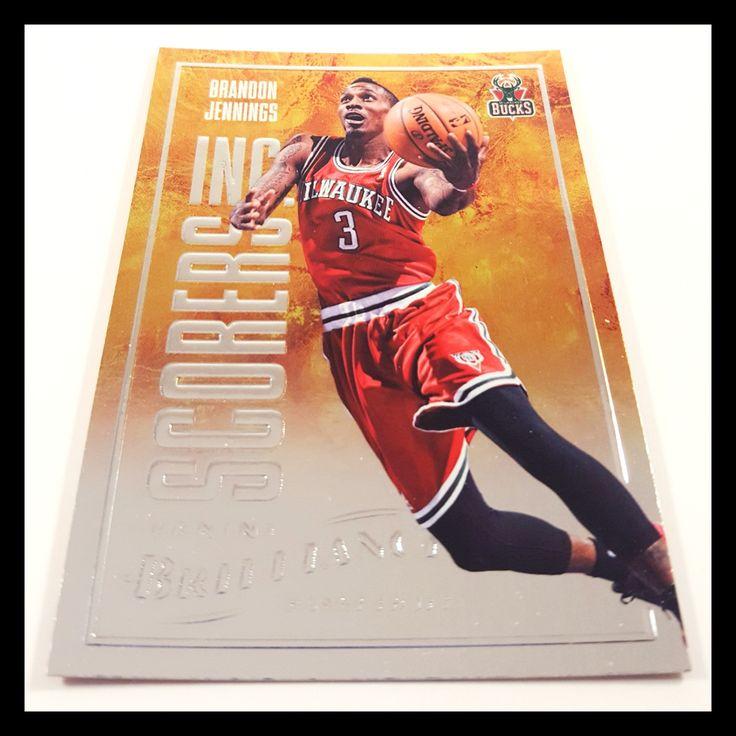 Brandon Jennings Special Insert Basketball Card (2012-13 Panini Brilliance)