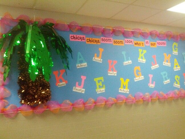 Classroom Ideas Year 1 ~ Chicka boom bulletin board for the beginning