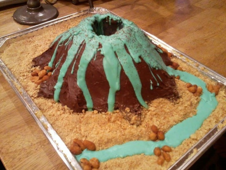 3rd grade volcano project. This one is edible.