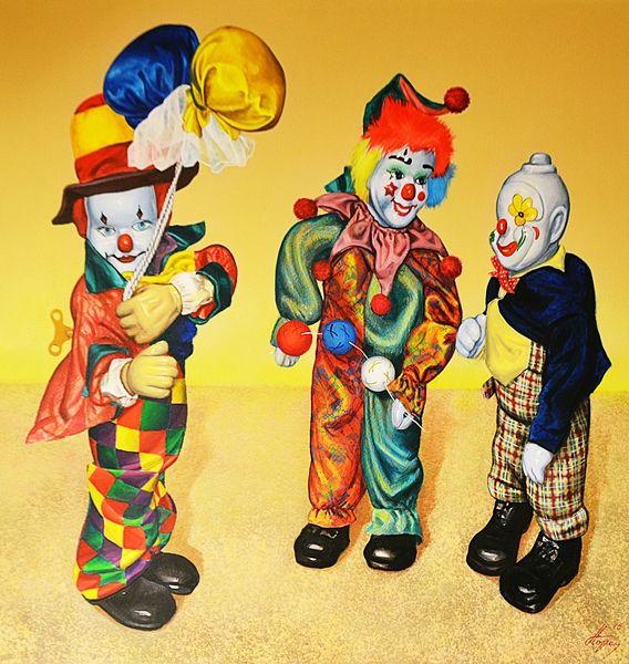 Dorel Topan (n.1963) Trei clowni de la rasarit / Three clowns from the East