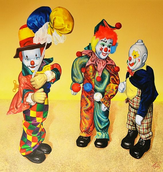 Dorel Topan (n.1963) Trei clowni de la rasarit / Three clowns from the East