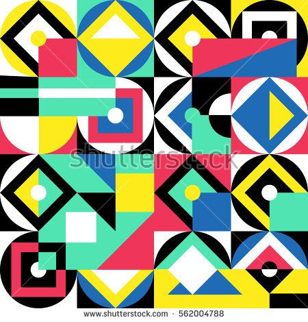 Decorative ornament of geometric shapes. Colorful geometric pattern. Geometric colorful background. Artistic decorative ornament
