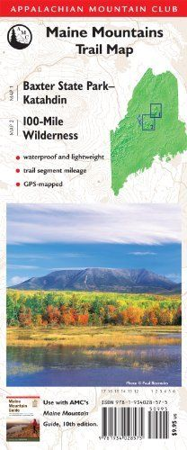 AMC Map: Baxter State Park - Katahdin and 100-Mile Wilderness: Maine Mountains Trail Map by Appalachian Mountain Club Books. $9.95. Publisher: Appalachian Mountain Club Books; Other edition (April 17, 2012). Publication: April 17, 2012