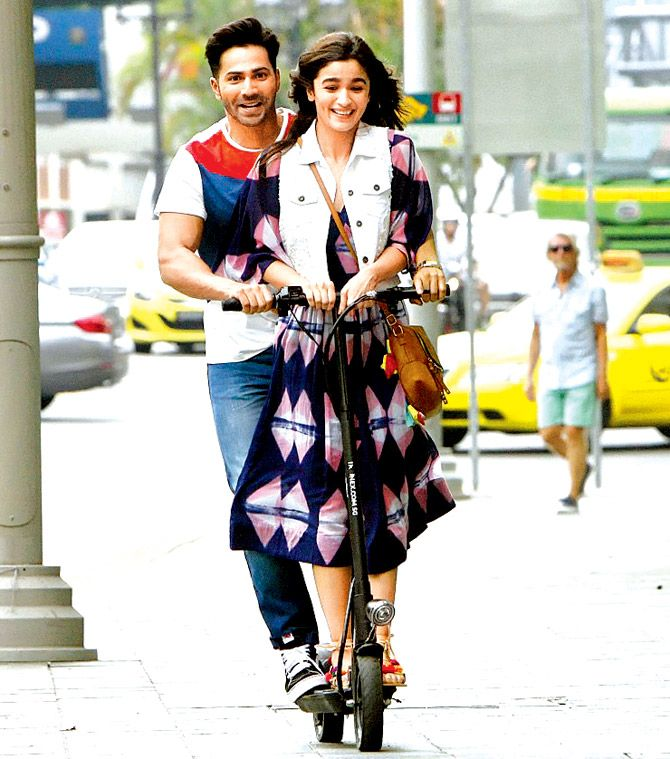 Varun Dhawan and Alia Bhatt in 'Badrinath Ki Dulhaniya'. #Bollywood