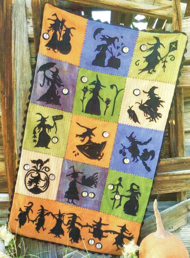 When Witches Fly flannel quilt kit/pattern by Sandra McKee | Homespun Hearth