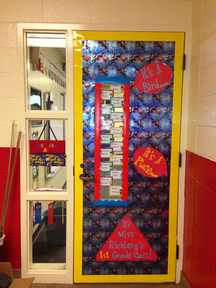 Superhero Classroom Decoration Ideas ~ Superhero classroom door decorations first grade