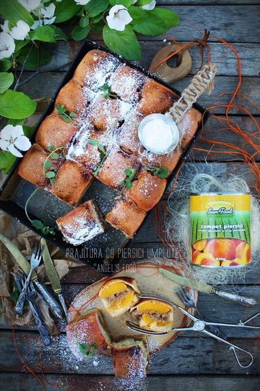 Angel's food: Prajitura cu piersici umplute cu nuca si piure de ...