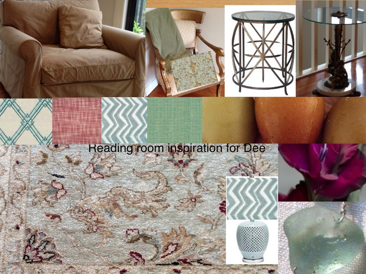 Choosing complementary fabrics for an existing rug.