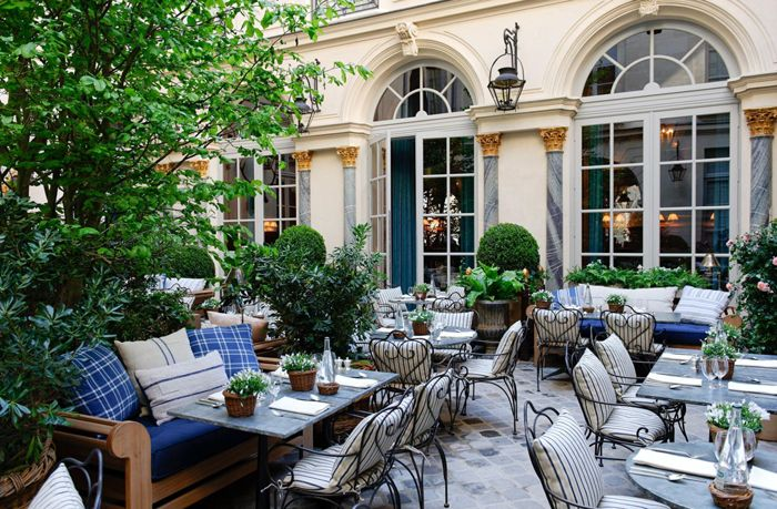 The garden at Ralph's Restaurant is a favorite spot in Paris and a must-see for any visit