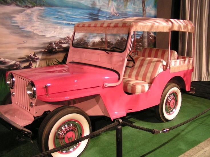 Pink Jeep!  My favorite vehicle at Elvis' car museum.  Pic taken during my 2008 visit.