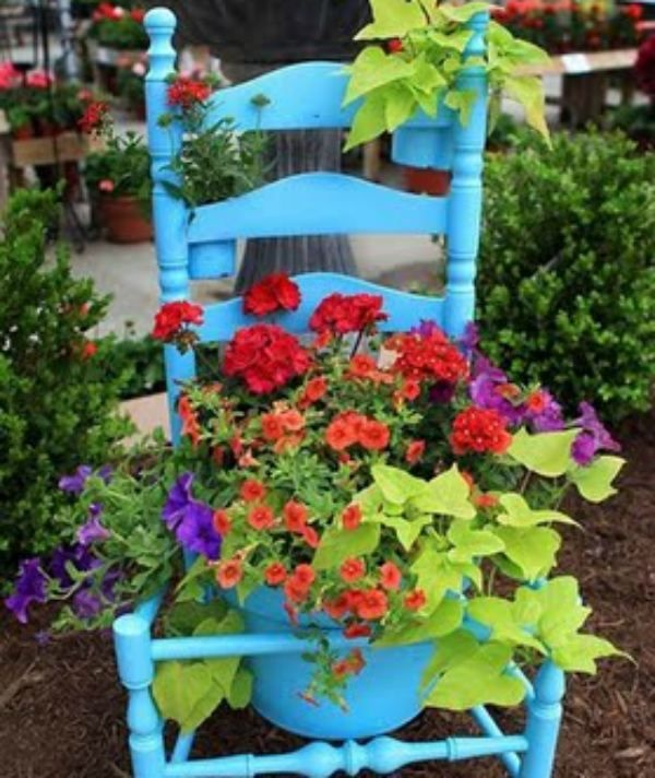 Image detail for reused and recycled garden planter ideas for Recycled garden ideas pinterest