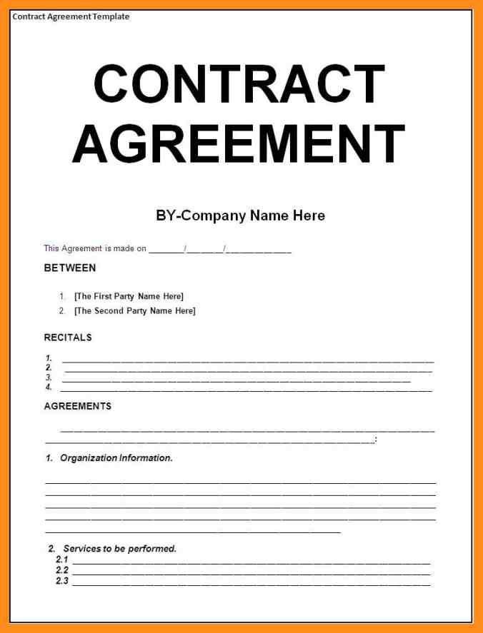 9+ sample agreement between two parties | agenda example ...