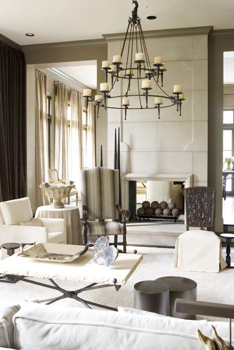 mcalpine booth & ferrier.....wing back chair...chandelier.....