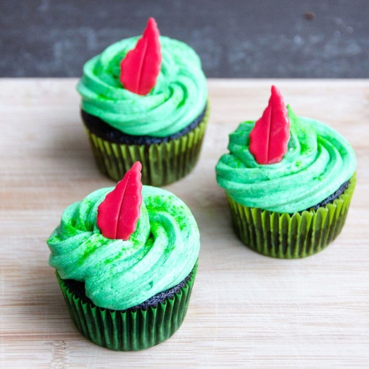 Cupcakes for Peter Pan from Perfect Chocolate Cupcakes with Classic Buttercream   Umami Girl