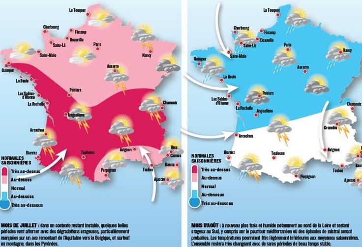 Les prévisions de la Chaîne Météo pour l'été 2013