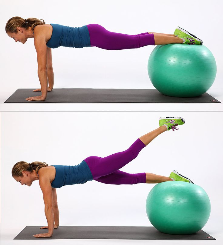 Plank Booty Leg Lifts...I really need to get an exercise ball, and an exercise room to go with it.