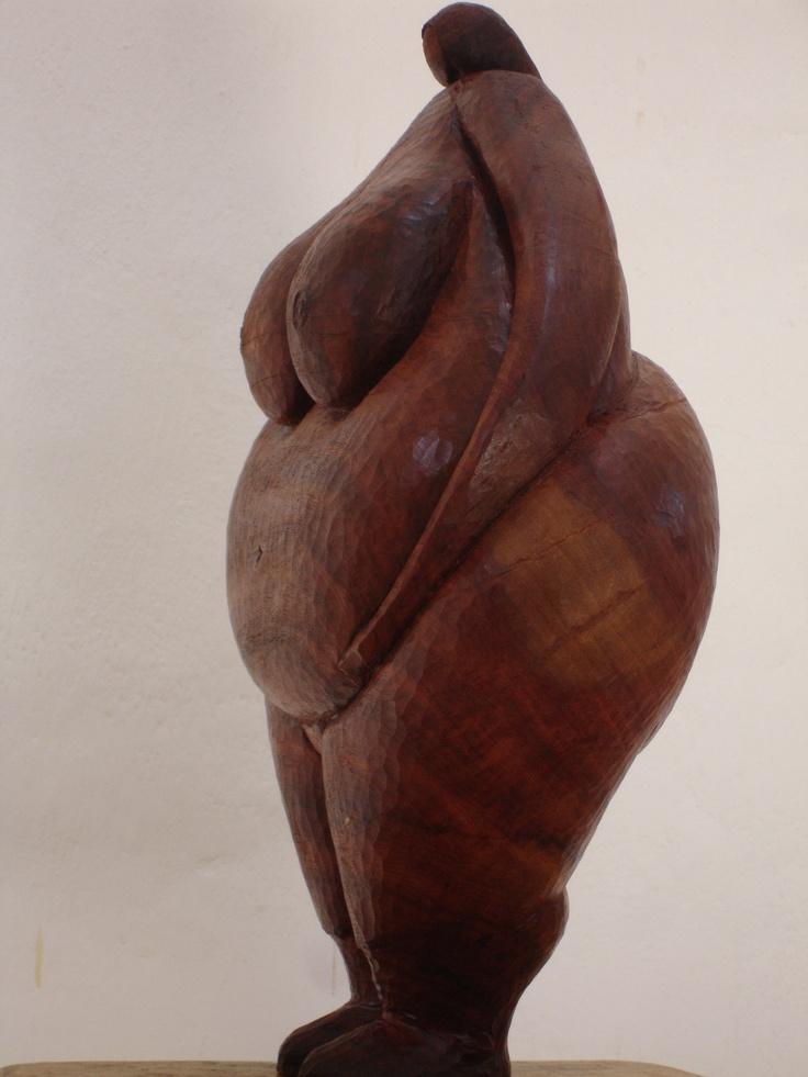 """""""MA"""". talla en madera. Chila Trujillo. Colombia."""