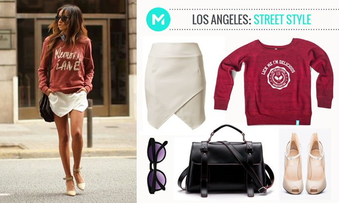 Fashion from the world: Los Angeles street style #blouse #hills #sporty