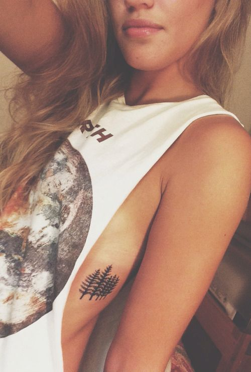 small tree rib tattoo #girly #ink