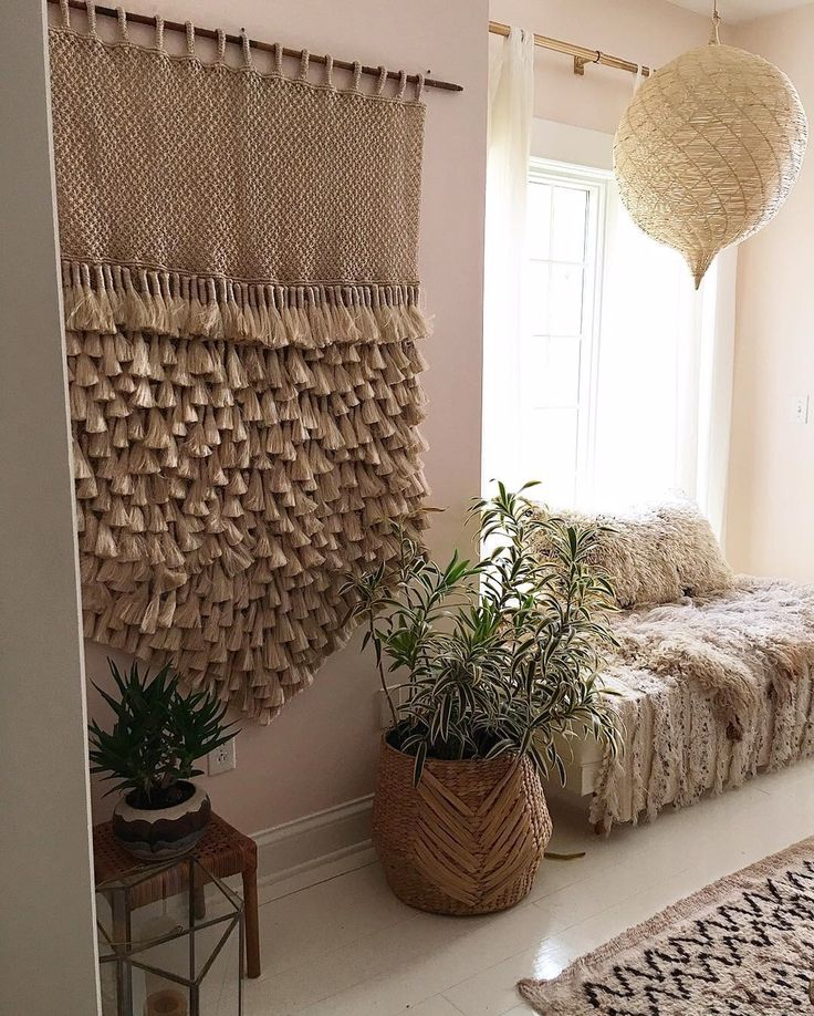 JUMBO Jute Macrame Wall Hanging - Natural with Tassels & 151 best The Dharma Door Style images on Pinterest