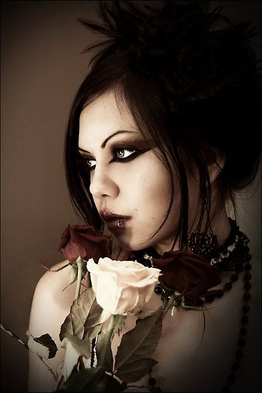 Gothic Fashion flowers can work