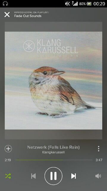 """Klang Karussel - Netzwerk (Falls like Rain) """"... I won't run when the storm clouds come, I won't turn away. Cause if your eye's on the ground, when the night comes down, you only see the stars when they fall like rain....like rain..."""""""