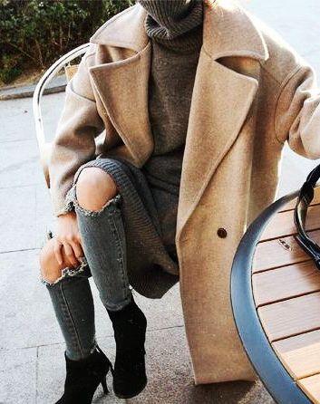 turtlenecks + felt coats