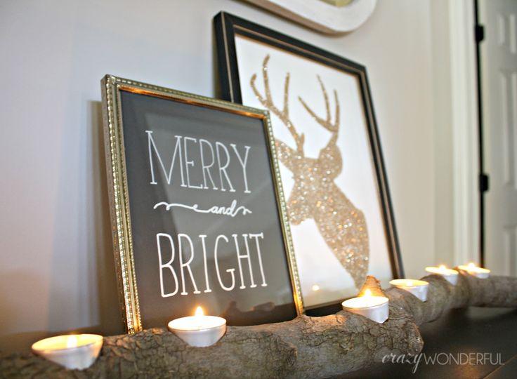 Love the glitter reindeer