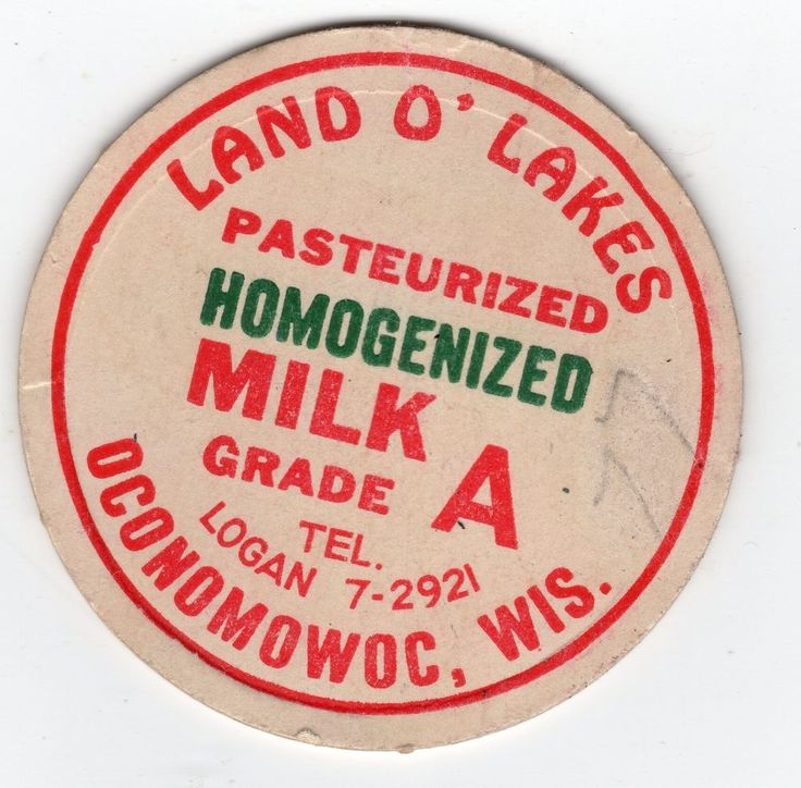 "Land O Lakes Dairy Oconomowoc WI 2 & 5/16"" wide mouth milk cap Wisconsin #LandOLakes"