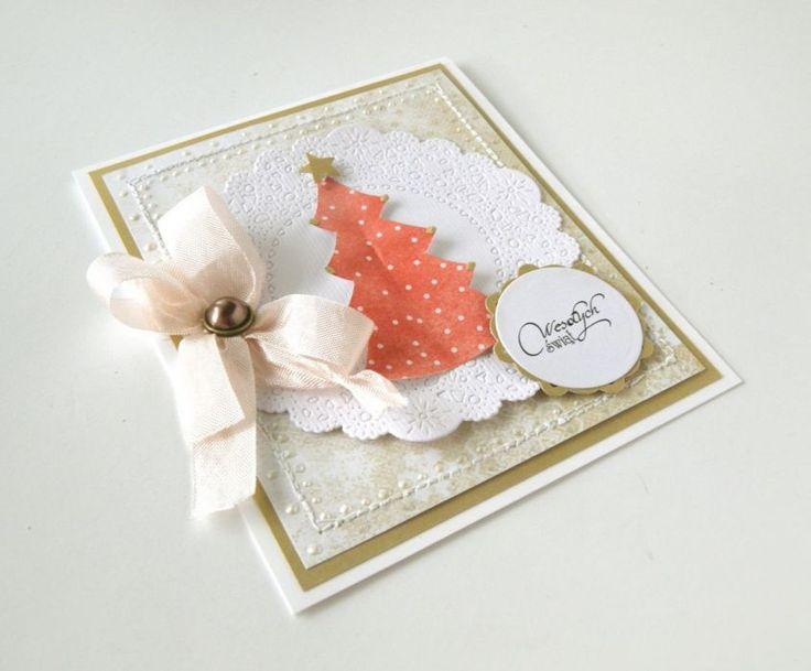 kartka okolicznościowa Z CHOINKĄ – Kartki bożonarodzeniowe - wymiary: 12x15 cm – Artillo