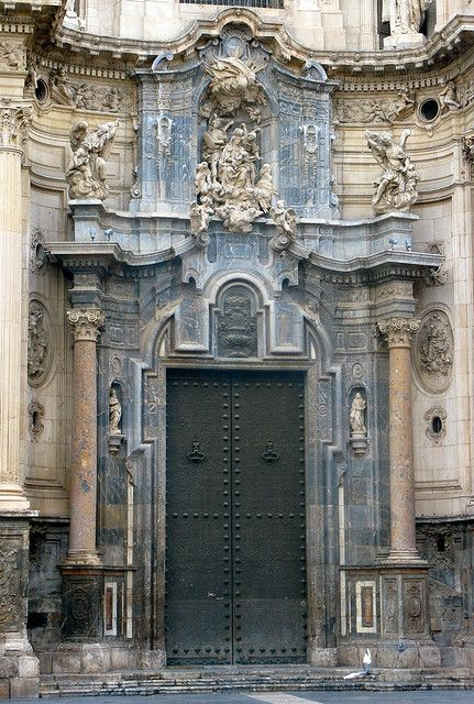 Cathedral door - Murcia, Spain - oh to have a great zoom lens!
