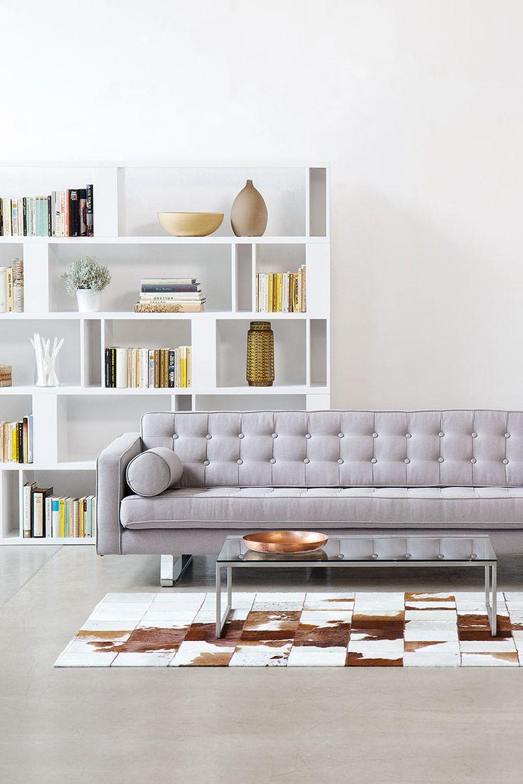 3 sitzer sofa chelsea silber kufen fashion for home for Sofa 7 sitzer