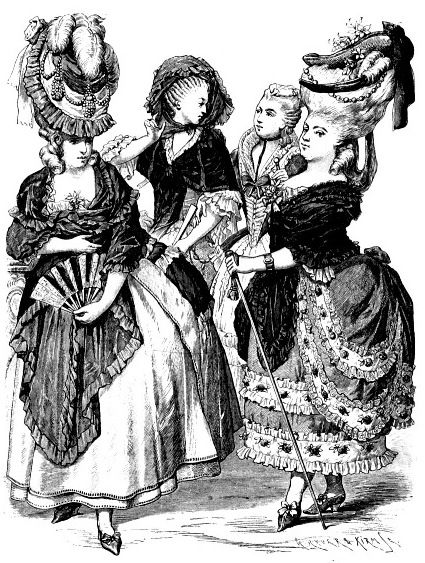 Французские платья, 70-е годы 18 века