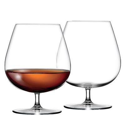 Large Crystal Cognac Glasses - Set of 2 #kitchengiftco