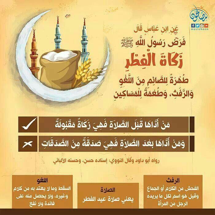 زكاة الفطر فريضة علموها أطفالكم على من تجب زكاة الفطر بالعربي نتعلم Islam Beliefs Islam Facts Islam Quran