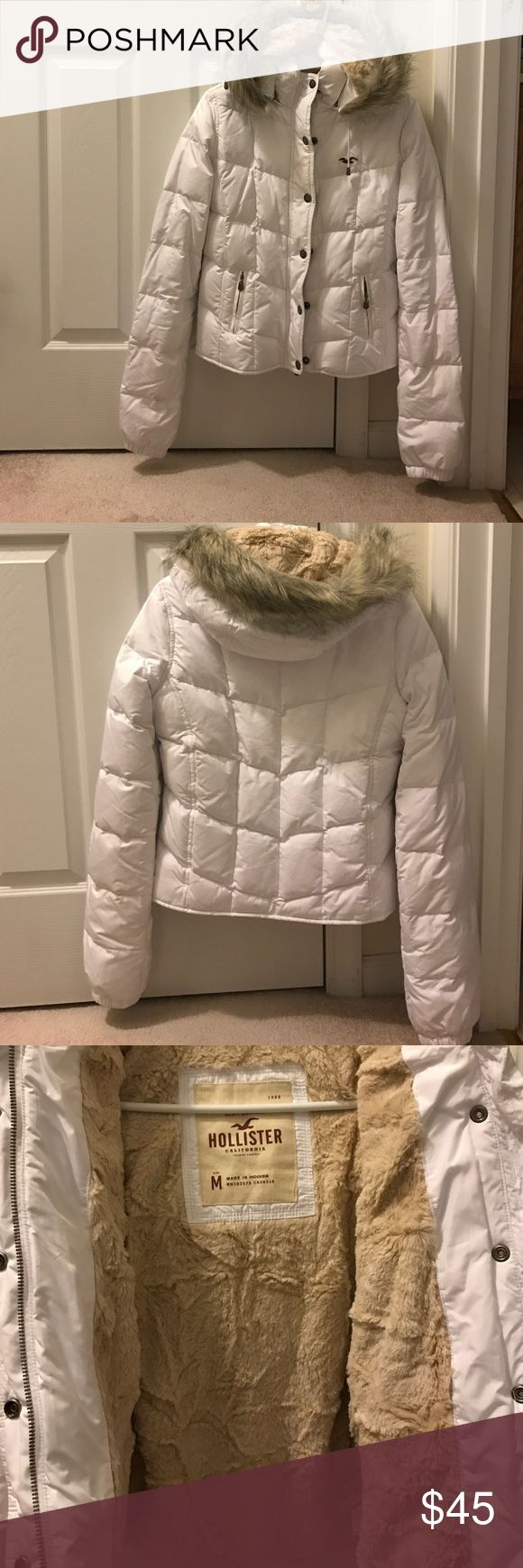 Hollister Jacket Lightly used, does have some small stains on the collar (not very noticeable) Hollister Jackets & Coats Puffers