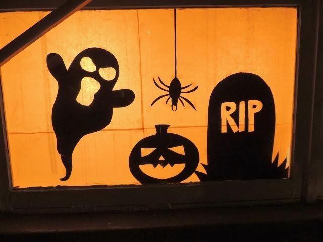 900 best ✪Halloween Night✪ images on Pinterest Halloween prop - halloween window decorations