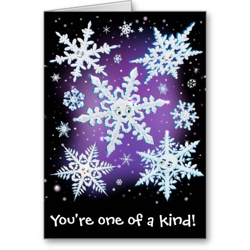 Snowflake Greeting Card ~ Read more about The Lonely Snowflake http://www.frogburps.com/snowflake_sq #childrensbooks #frogburps #thelonelysnowflake #greetingcard #childrensillustration