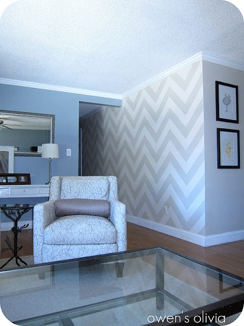 Chevron Walls - a tutorial (how ambitious do I feel with this nursery?? Probably not THIS ambitious).