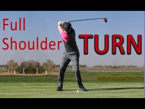 EVERYONE can make a FULL SHOULDER TURN in golf! - YouTube